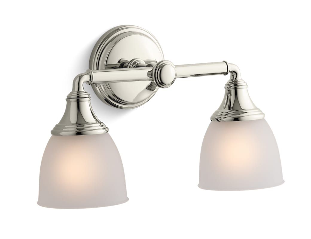 Kohler K 10571 Devonshire Two Light Up Or Down Wall Sconce Vibrant Polished  Nickel Indoor