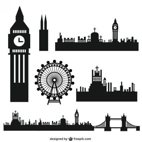 London Herrlich Silhouette London Und Scherenschnitt