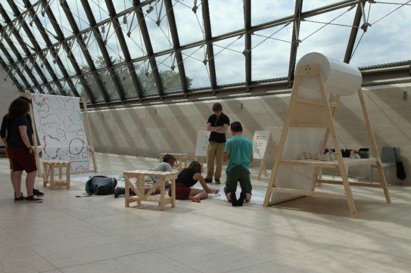 looks like music by yuri suzuki, an audiovisual installation at MUDAM - designboom | architecture & design magazine