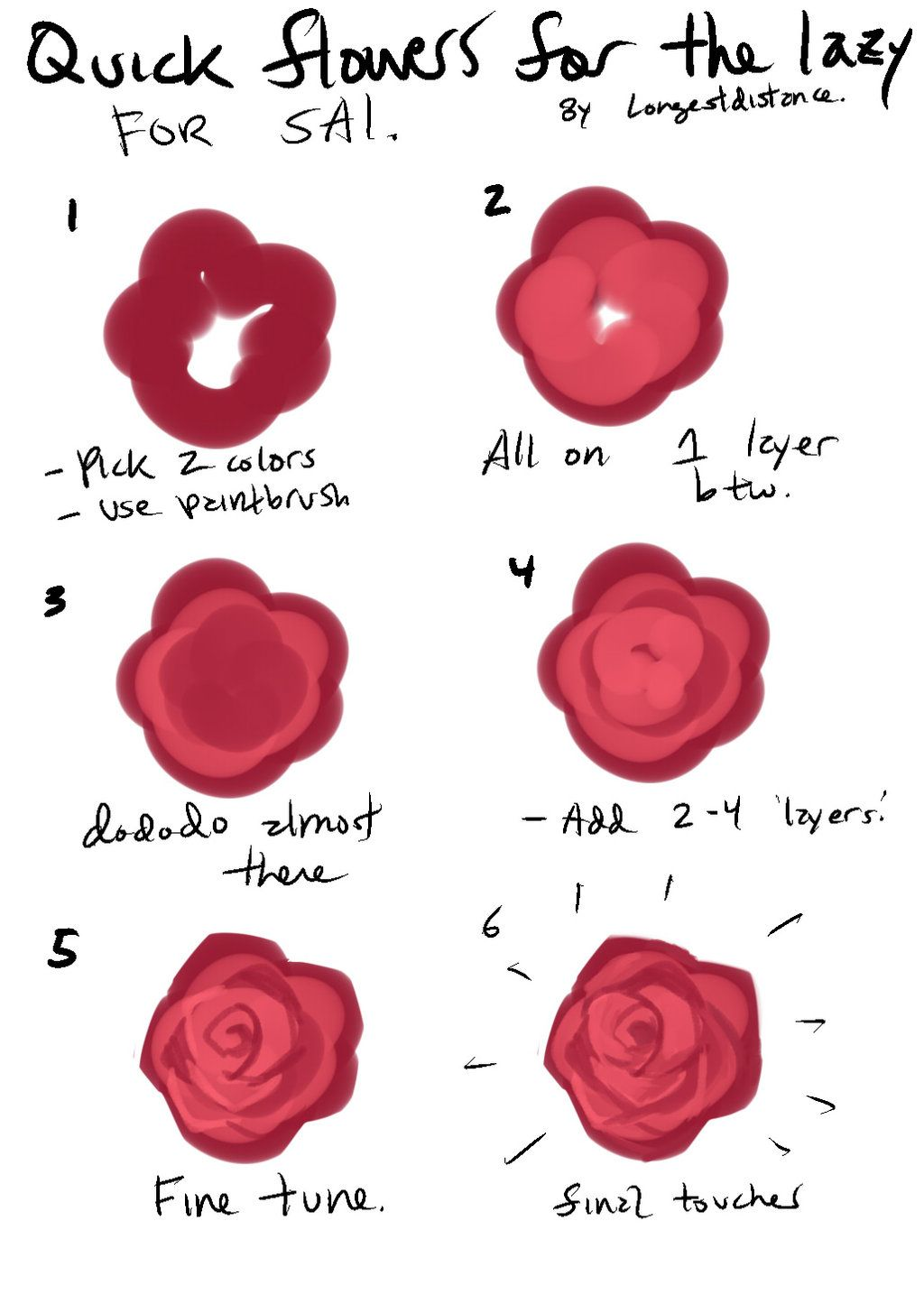 Tutorial How To Bs A Flower For Lazy People Painting Flowers Tutorial Flower Drawing Tutorials Flower Drawing