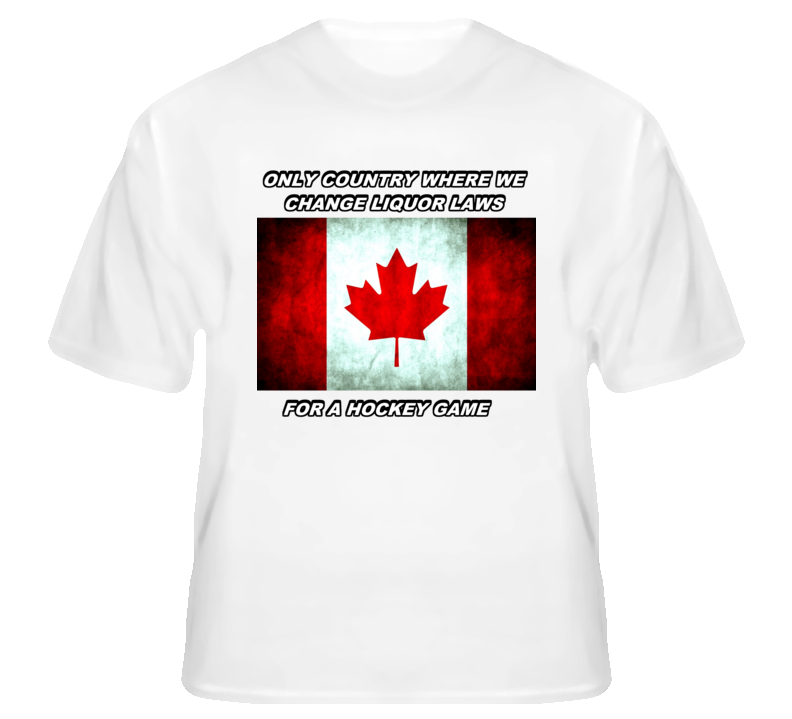Canada Olympic Hockey Liquor Laws Funny T Shirt | Sports T Shirts ...