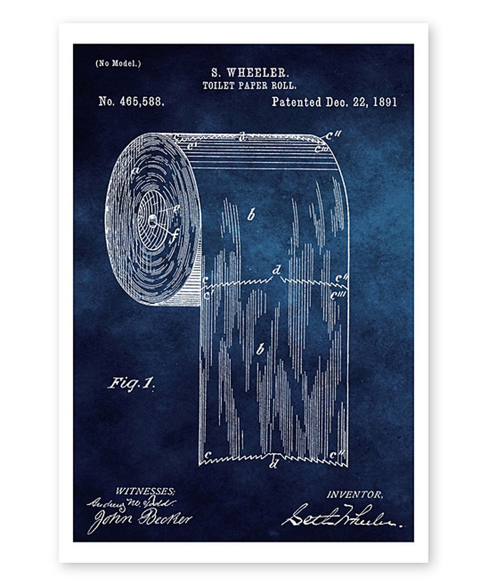 Another great find on zulily toilet paper roll 1891 blueprint art toilet paper roll 1891 blueprint art print by oliver malvernweather Images