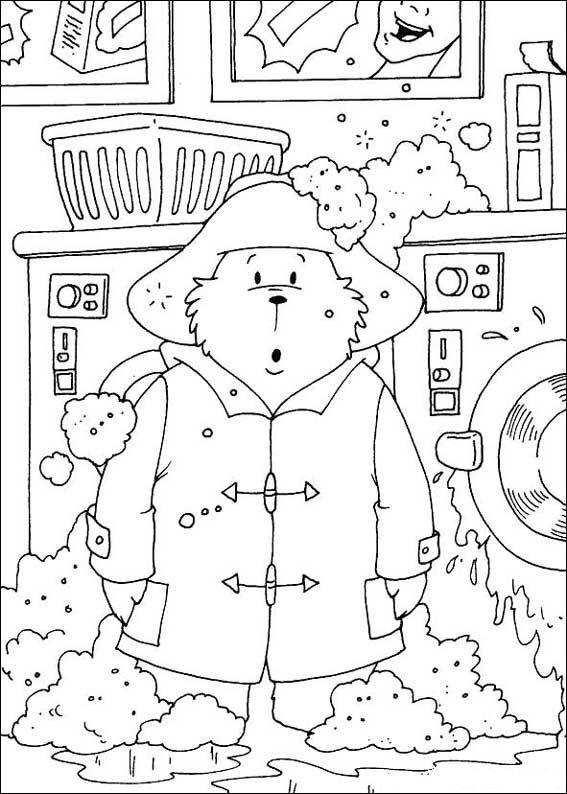 Coloring Page Paddington Bear Kids N Fun Bear Coloring Pages