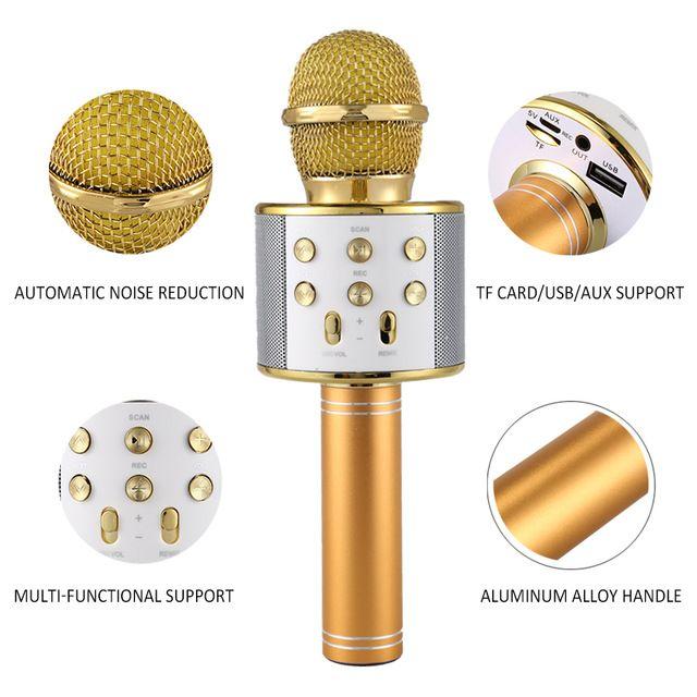 Wireless Karaoke Player Recording Singing Microphone