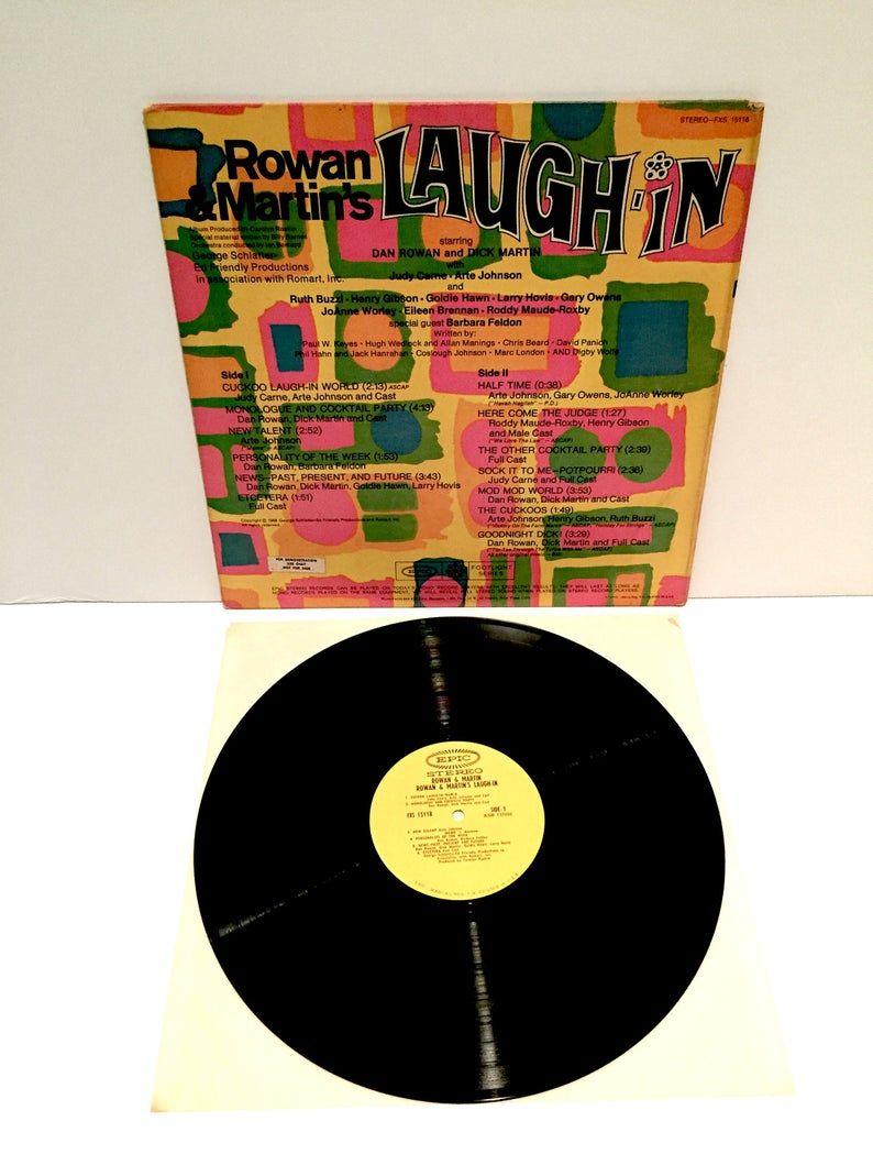 Rowan Martin S Laugh In Vinyl Record Goldie Hawn Henry Etsy In 2020 Vinyl Records Vintage Vinyl Records Goldie Hawn
