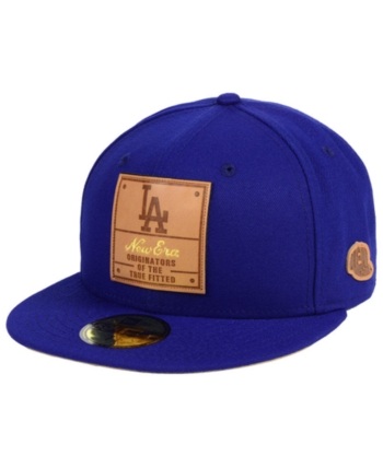 df4a36cc207616 New Era Los Angeles Dodgers Vintage Team Color 59FIFTY Fitted Cap - Blue