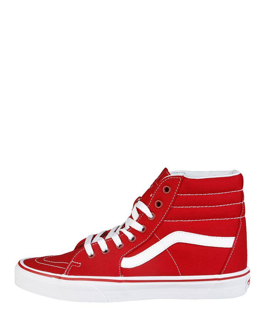 vans rosso donna