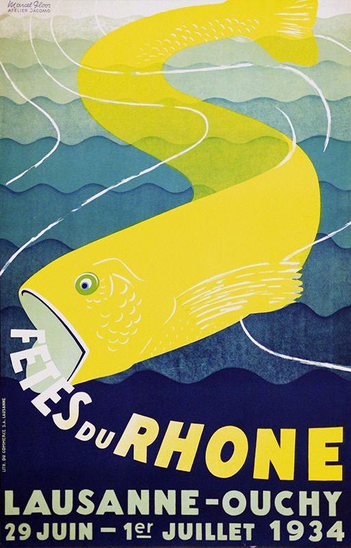 Marcel Gloor, Fetes du Rhone, 1934