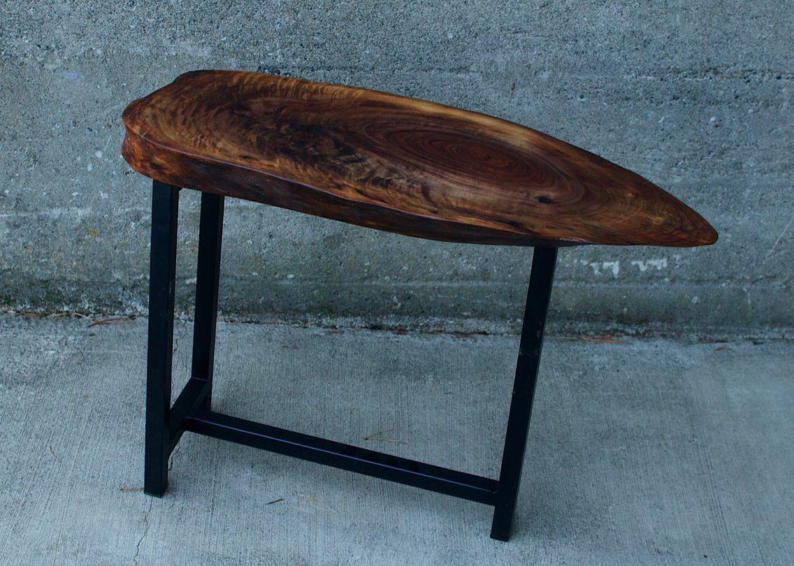 Live Edge Black Walnut End Table