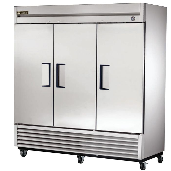 True T 72 72 Cu Ft Solid 3 Door Commercial Refrigerator Solid Doors Stainless Steel Doors Locker Storage
