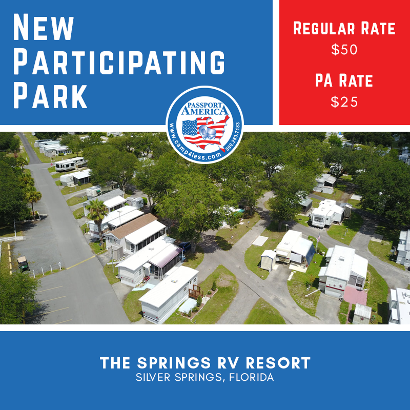 Located In Silver Springs Florida The Springs Rv Resort Accommodates Rvs Up To 62ft And Features Paved Roads 17 0 In 2020 Florida Campgrounds Resort Silver Springs