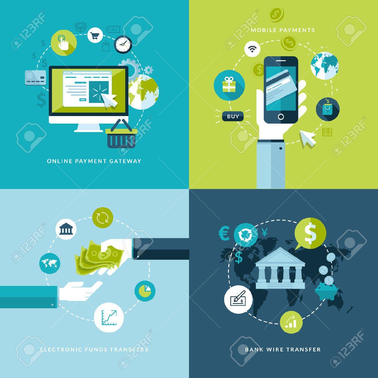 26587147-flat-design-vector-illustration-concepts-of-online-payment ...