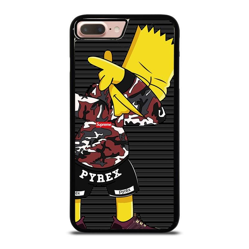 Bart Simpson Supreme Camo Dab Iphone 8 Plus Case Best Custom Phone Cover Cool Personalized Design Favocase Bart Simpson Case Iphone