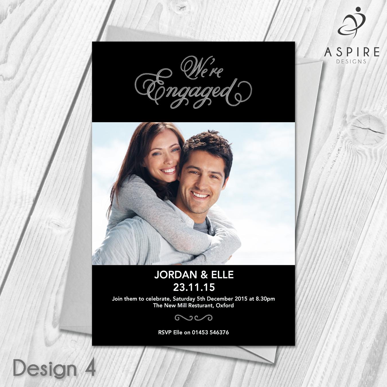 Premium Personalised Engagement Party Invitations Announcement Cards ...