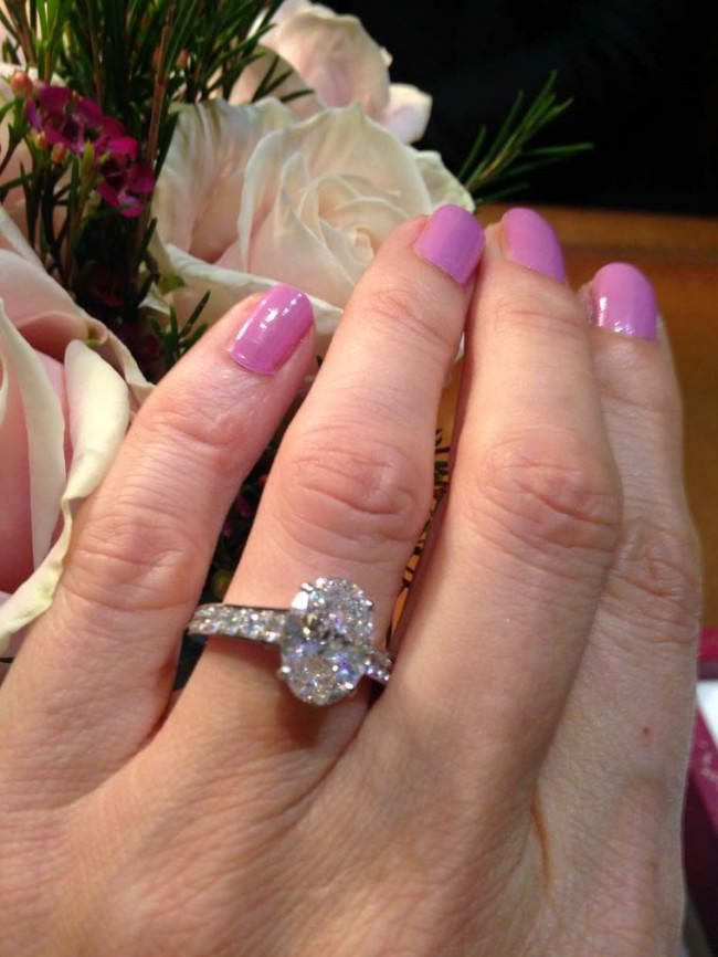 Cartier Oval Cut Diamond Engagement Ring | Wishful Thinking ...
