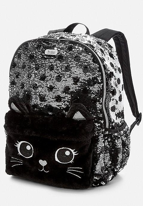 Panda Flip Sequin Mini Backpack Bolsinhas T Bolso