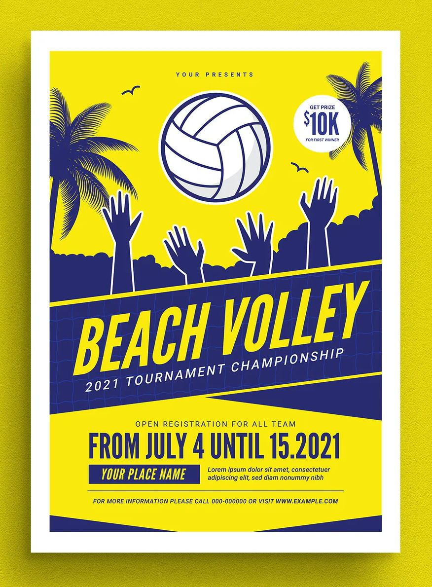 Beach Volleyball Tournament Flyer Design In 2020 Volleyball Tournaments Beach Volleyball Tournaments