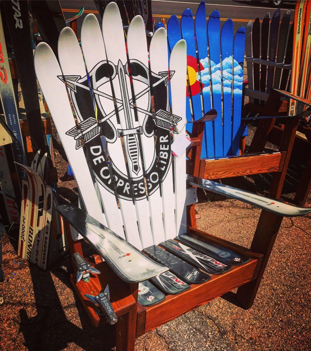 Park Art|My WordPress Blog_Adirondack Ski Chair Colorado Flag