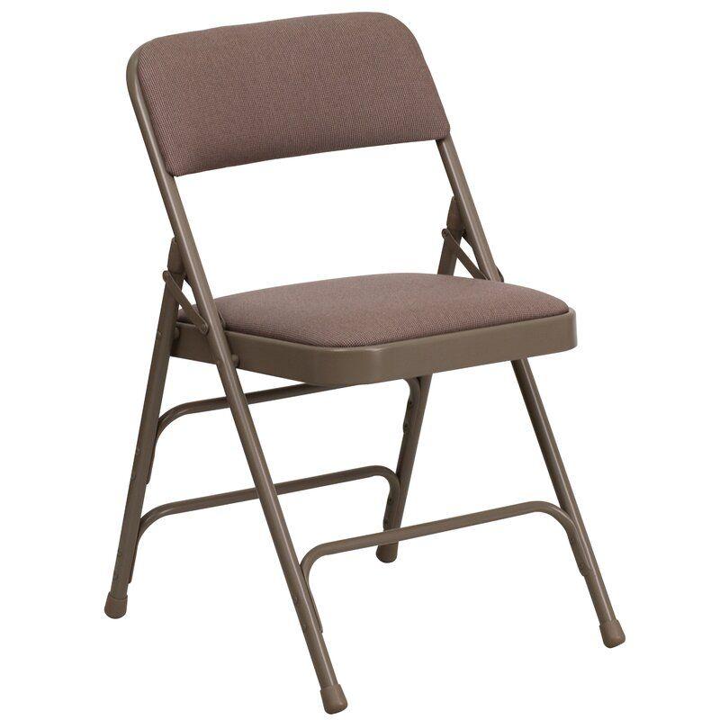 Symple Stuff Laduke Fabric Padded Folding Chair Reviews Wayfair Metal Folding Chairs Folding Chair Flash Furniture