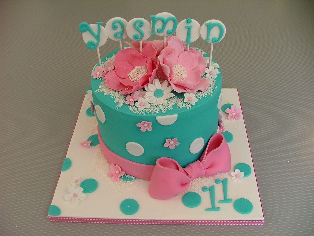 Birthday Fondant Cakes For Girls With Images Fondant Cakes