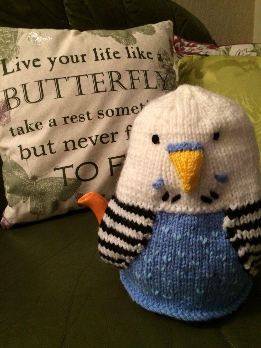 Debi Birkin's Budgie tea cosy pattern