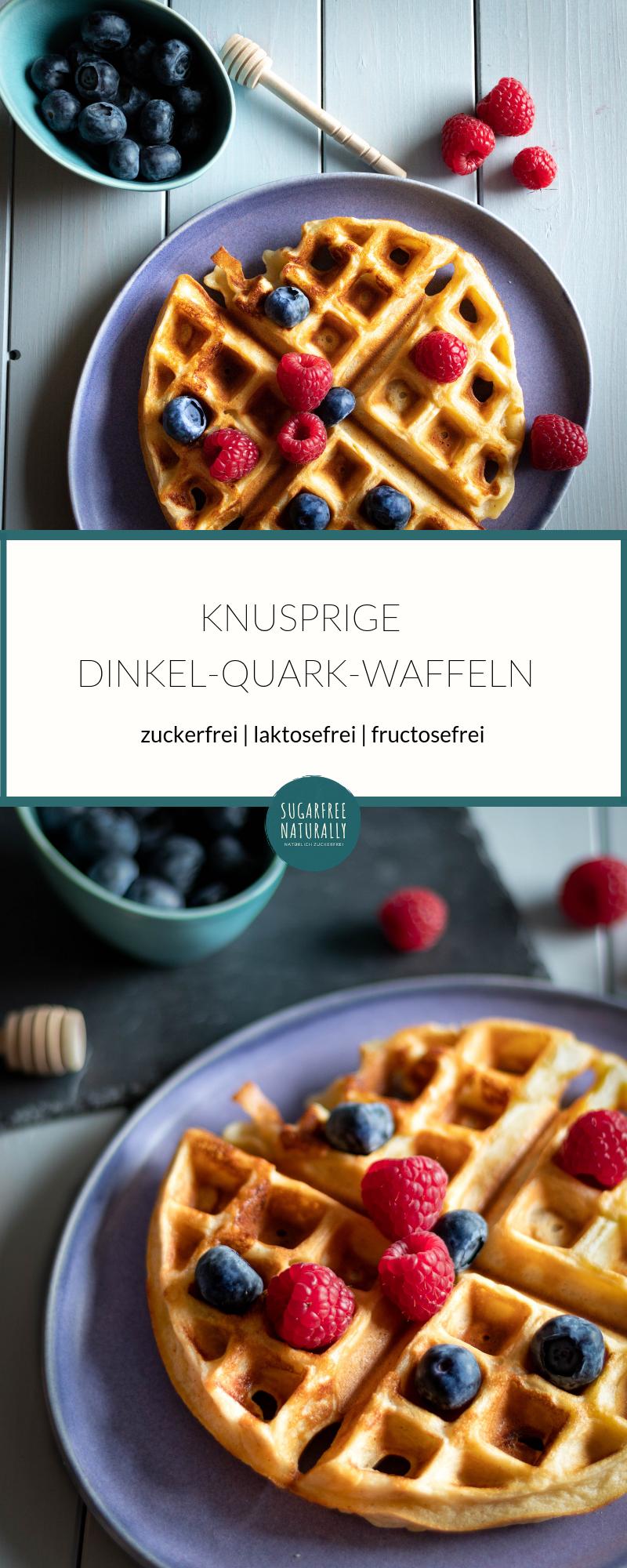 Photo of Sugar-free spelled curd waffles