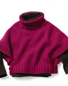 Modèle poncho point jersey Enfant