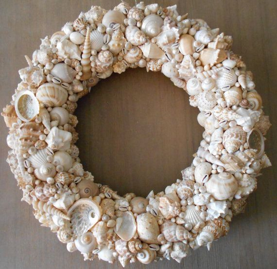 20 diy shell shell art and wreaths 20 diy solutioingenieria Image collections
