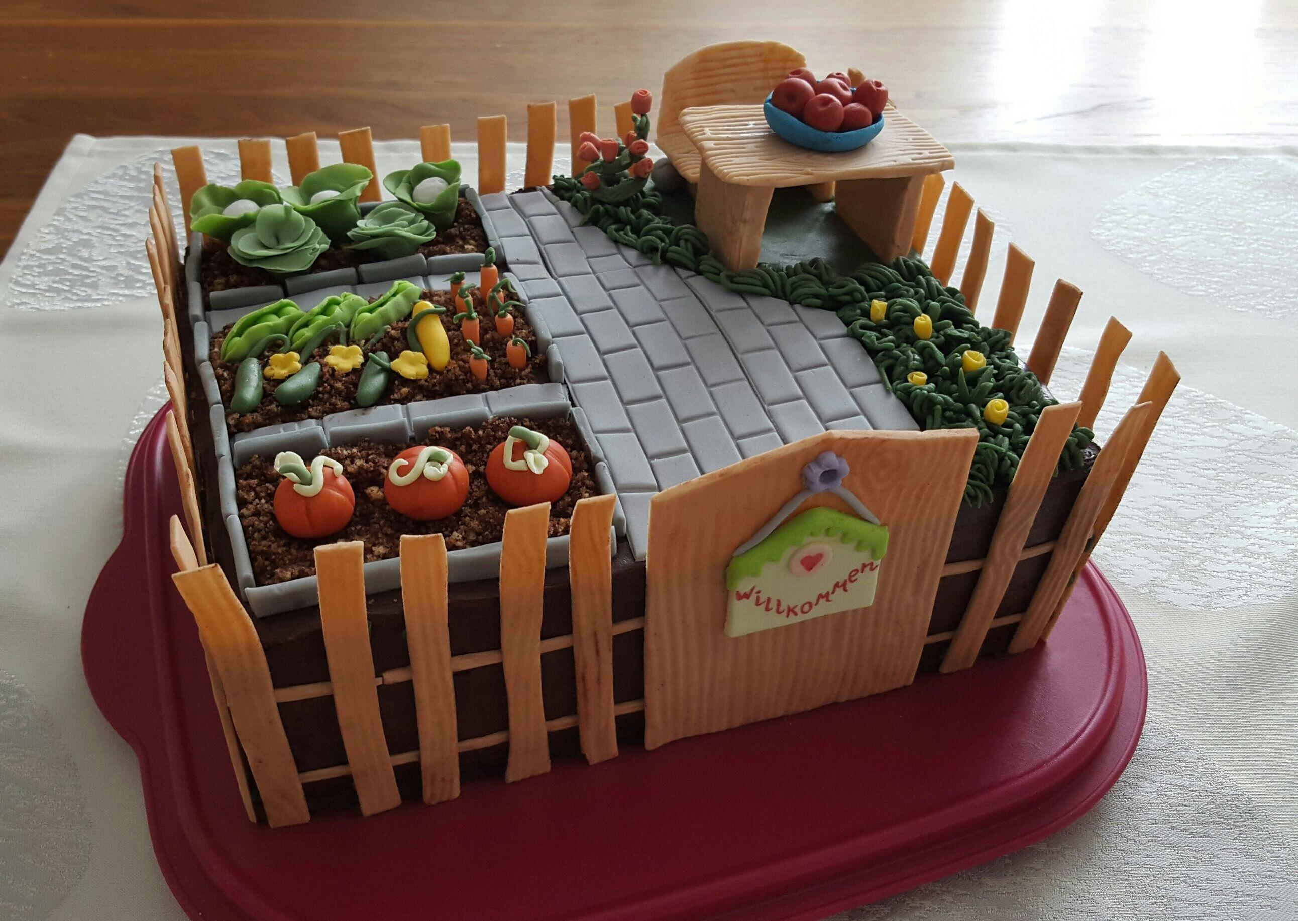 Garten Torte Gartenkuchen Kuchenverzierung Motivtorten