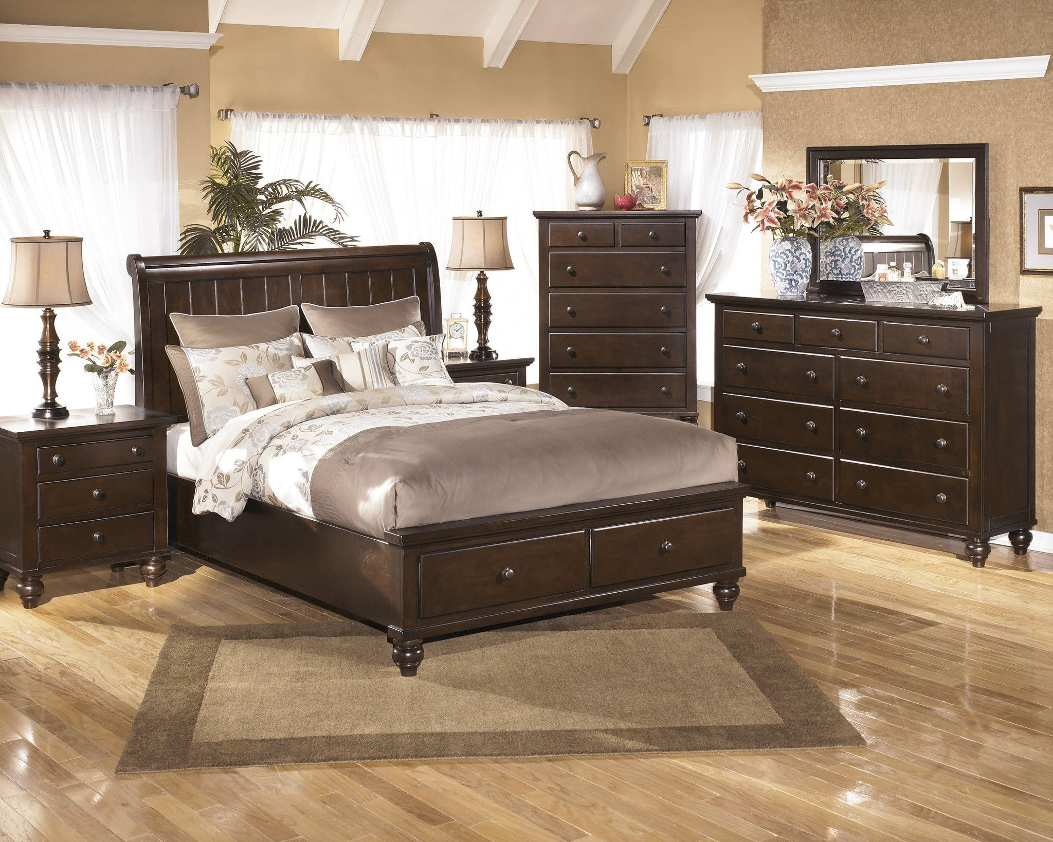 camdyn storage king bedroom set by ashley furniture