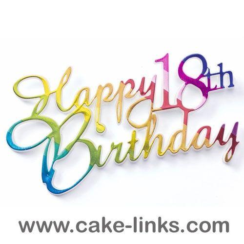 Happy 18th Birthday Multi Coloured Motto Happy 17th Birthday 17th Birthday Quotes Happy 18th Birthday Son