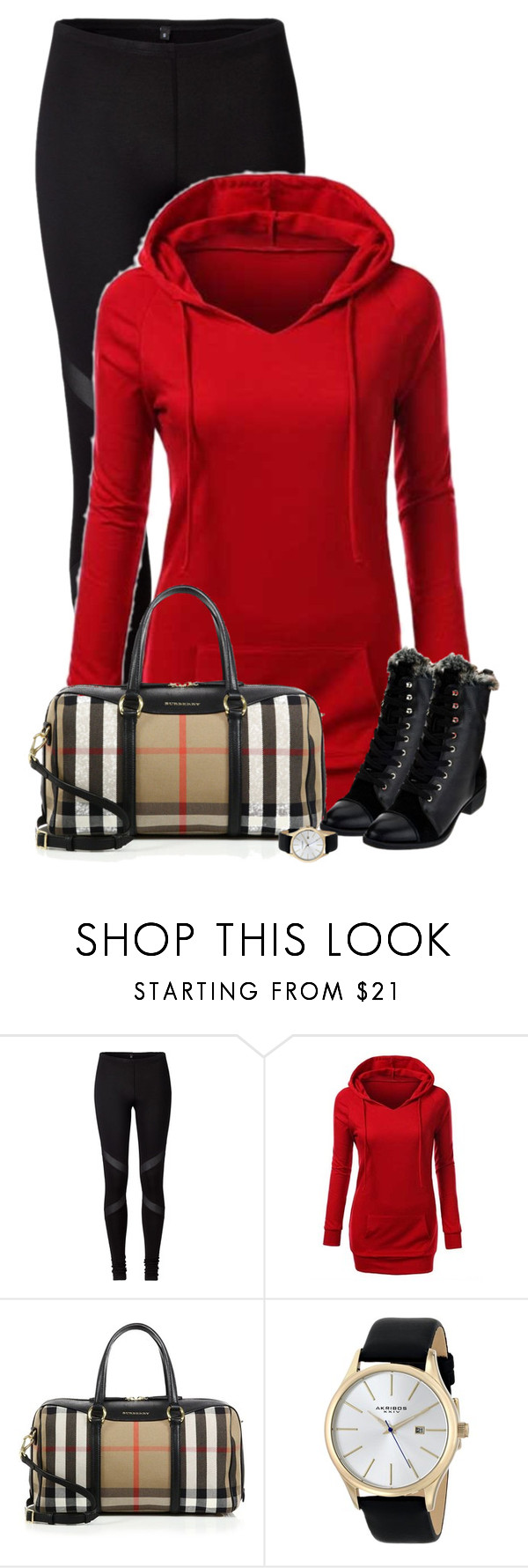 """""""Untitled #516"""" by denise-schmeltzer ❤ liked on Polyvore featuring Burberry, Akribos XXIV, women's clothing, women's fashion, women, female, woman, misses and juniors"""