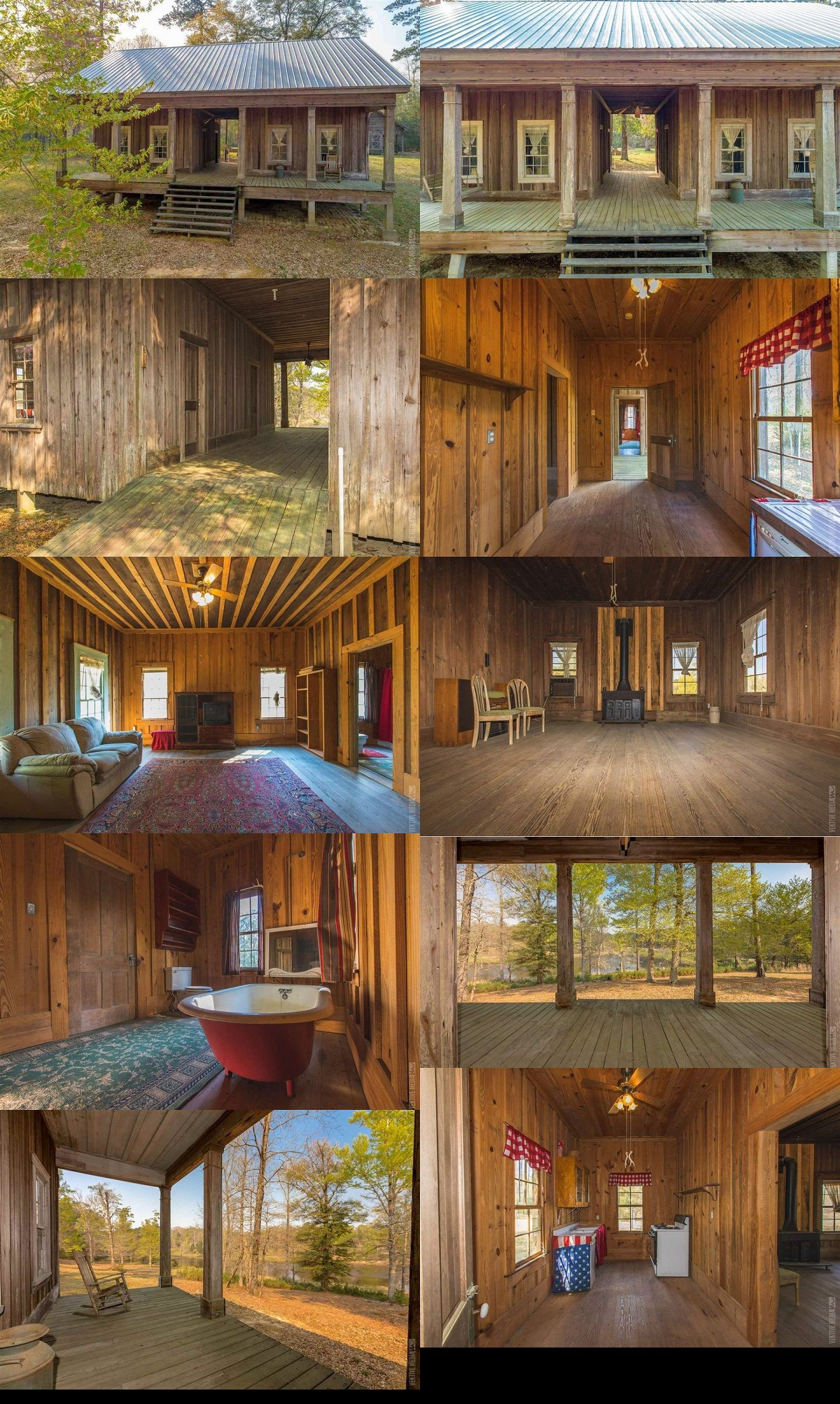 This old cabin style creates a breeze to cool the rooms