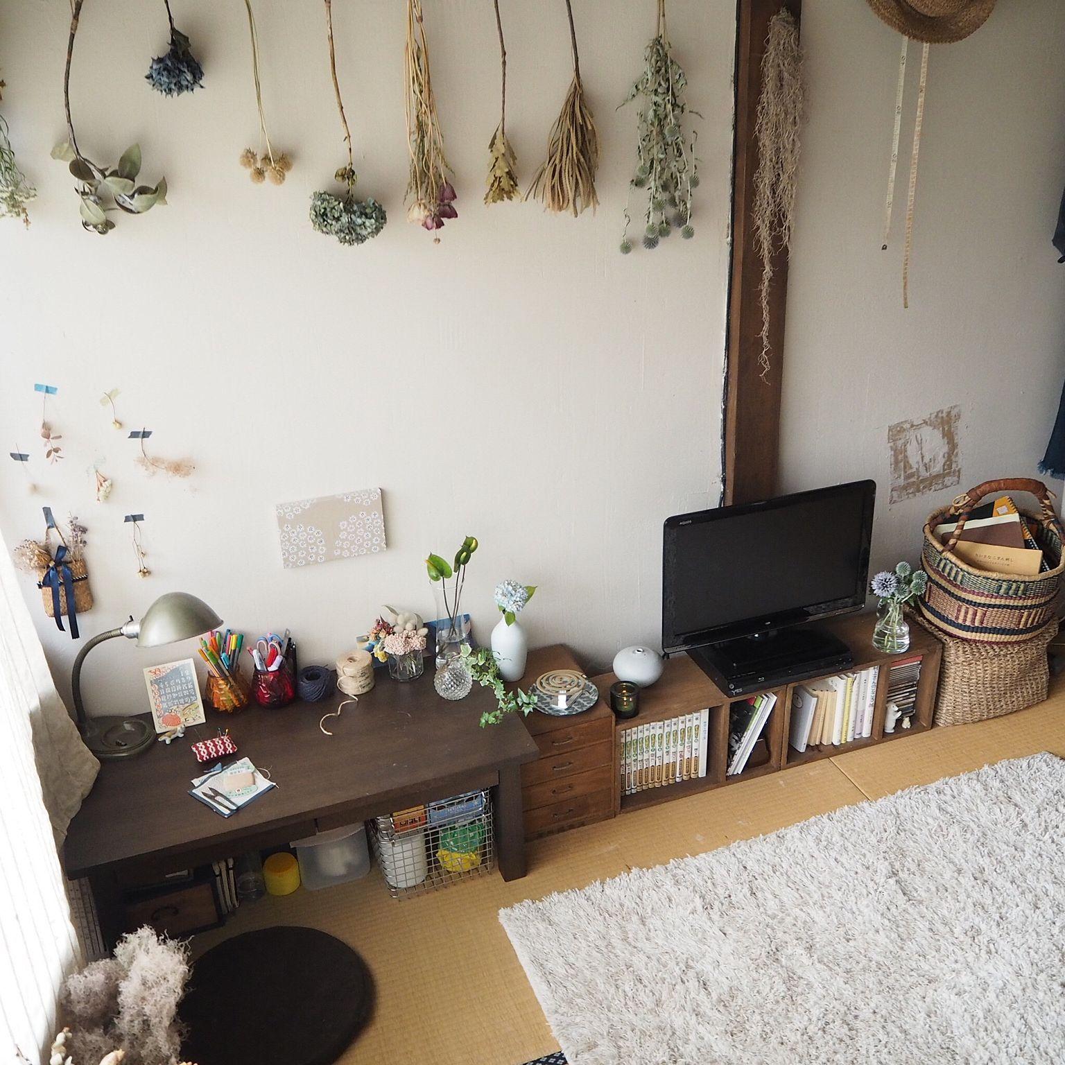 Photo of 部屋全体/珪藻土壁/花のある暮らし/和室/無印良品…などのインテリア実例 – 2016-07-04 08:40:09 | RoomClip(ルームクリップ)