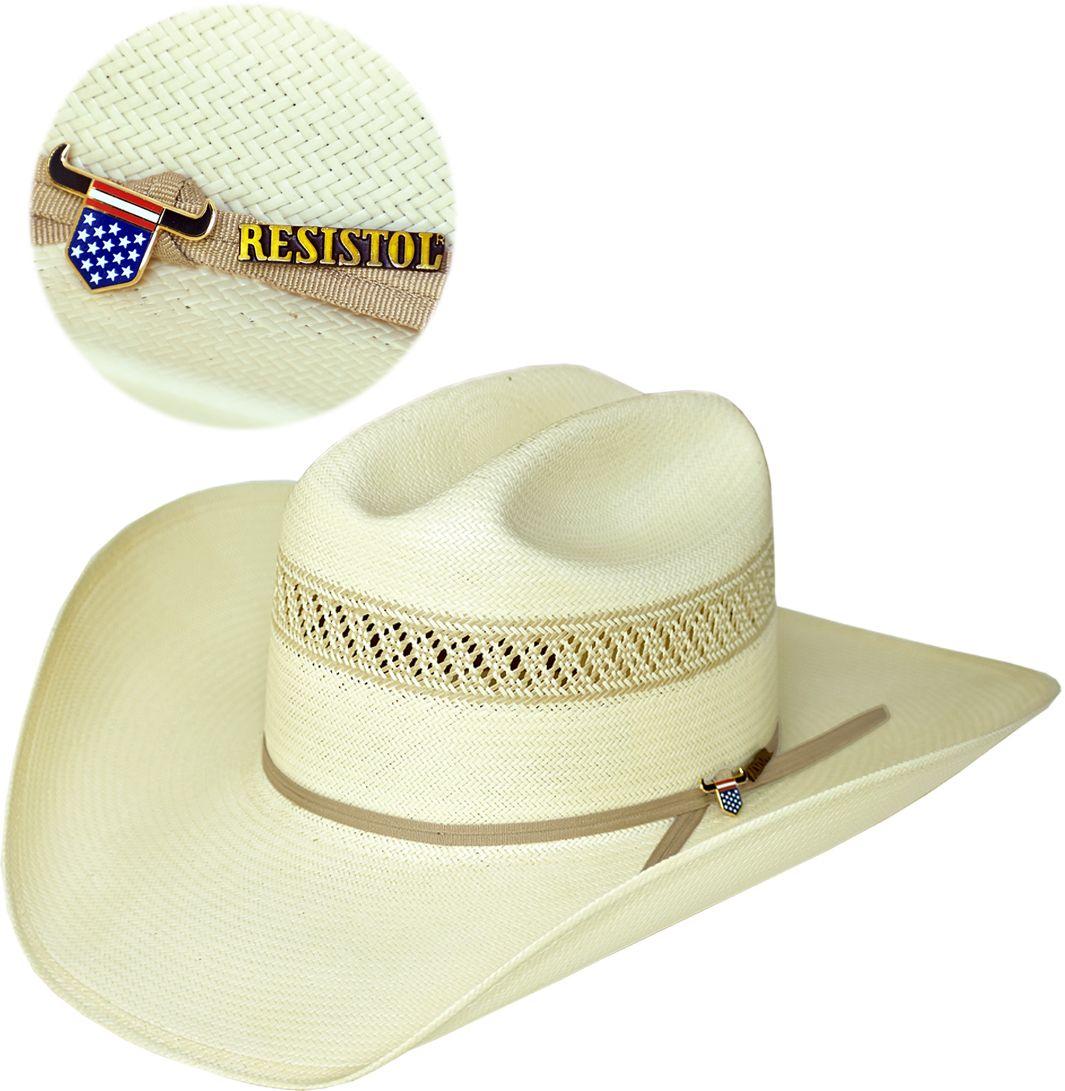 8b5de8729226e Chapéu de Palha 10X Resistol Hat Wildfire USTRC Chapéu importado em palha  fina trançada 10 x