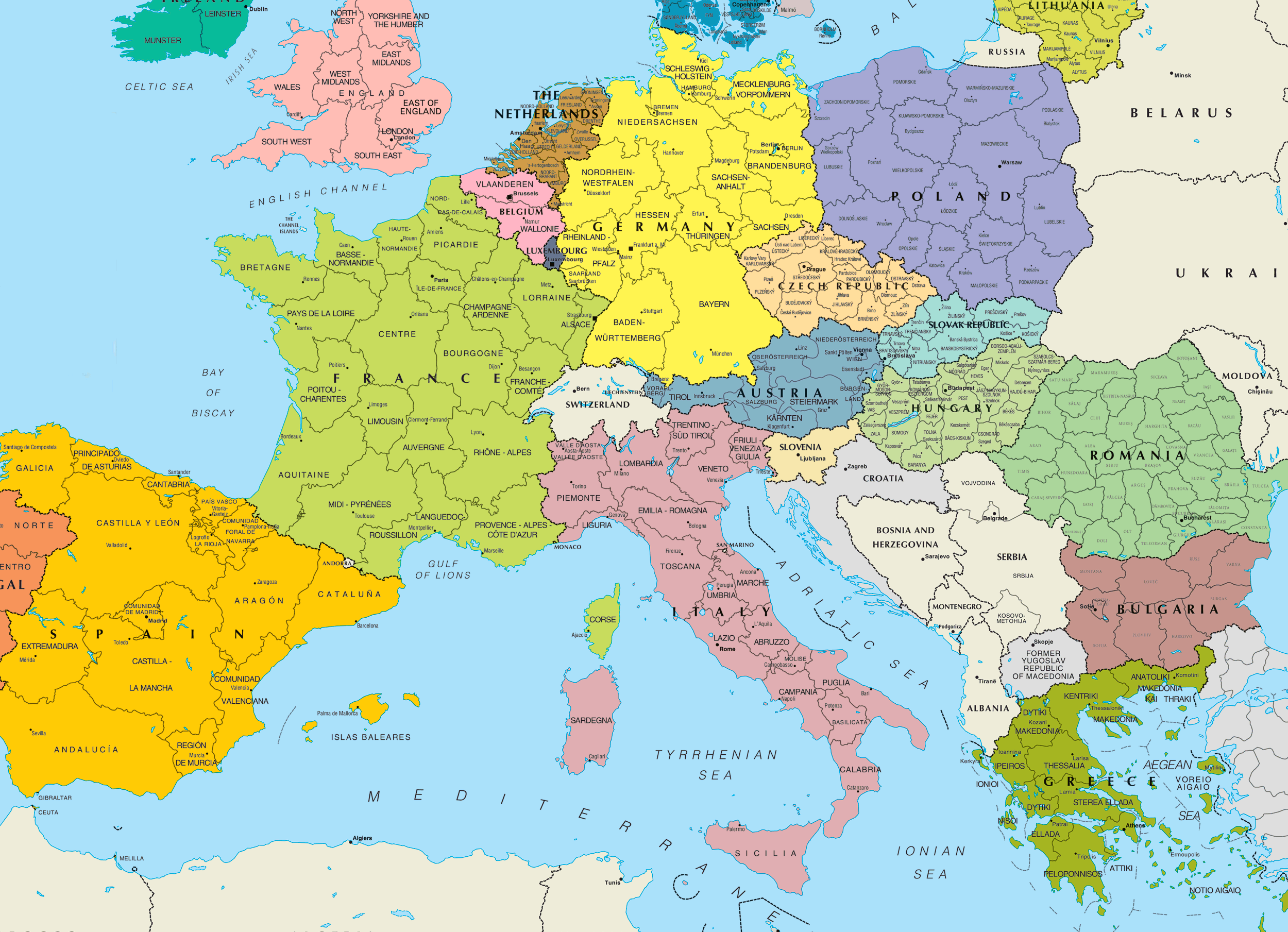 another good map Places Id Like To Go Pinterest Central europe