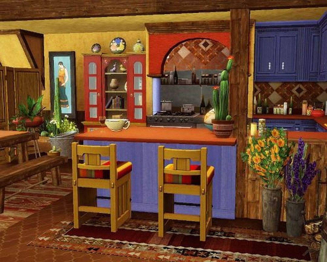 37 Colorful Kitchen Decorating With Mexican Style (34) in ...