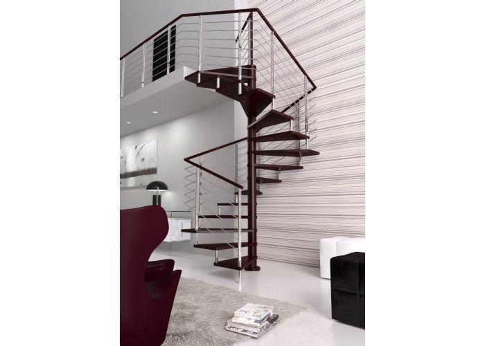 Escaleras de caracol de madera en kit modelo kubo - Escalera caracol de madera ...