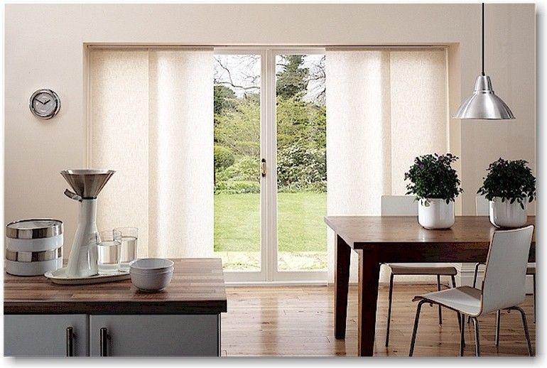 Modern Kitchen Patio Door Window Treatment Sliding Panel Hardwood