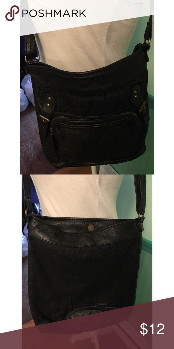 0208b8f1de9e Converse One Star Denim   Faux Leather Bag One long strap