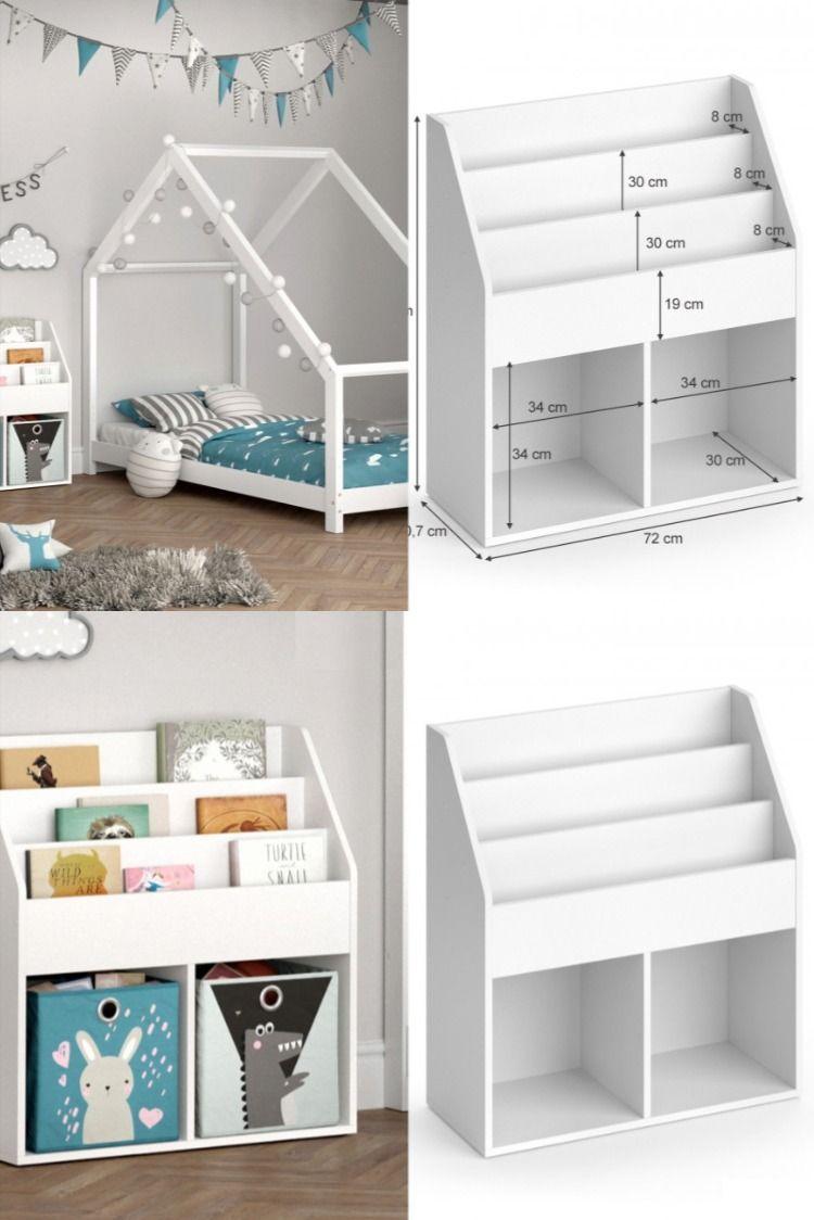 Etagere Livres Montessori Cielterre Commerce Meuble Rangement Enfant Decoration Chambre Bebe Etagere Livres
