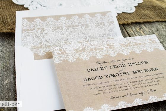 free burlap and lace envelope liner template free printables parties invitation. Black Bedroom Furniture Sets. Home Design Ideas