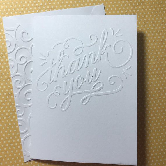 thank you cards white embossed note cards stationery set greeting cards blank - Embossed Note Cards