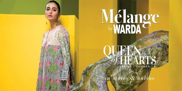 b1c57d89f7 Warda Melange Summer Lawn 2018 Queen Of Hearts Collection   Dresses ...