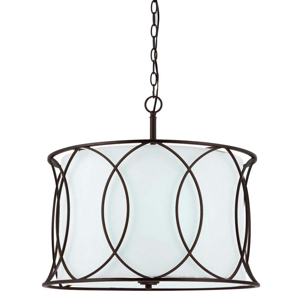 CANARM Monica 3-Light Oil Rubbed Bronze Chandelier | Oil rubbed ...