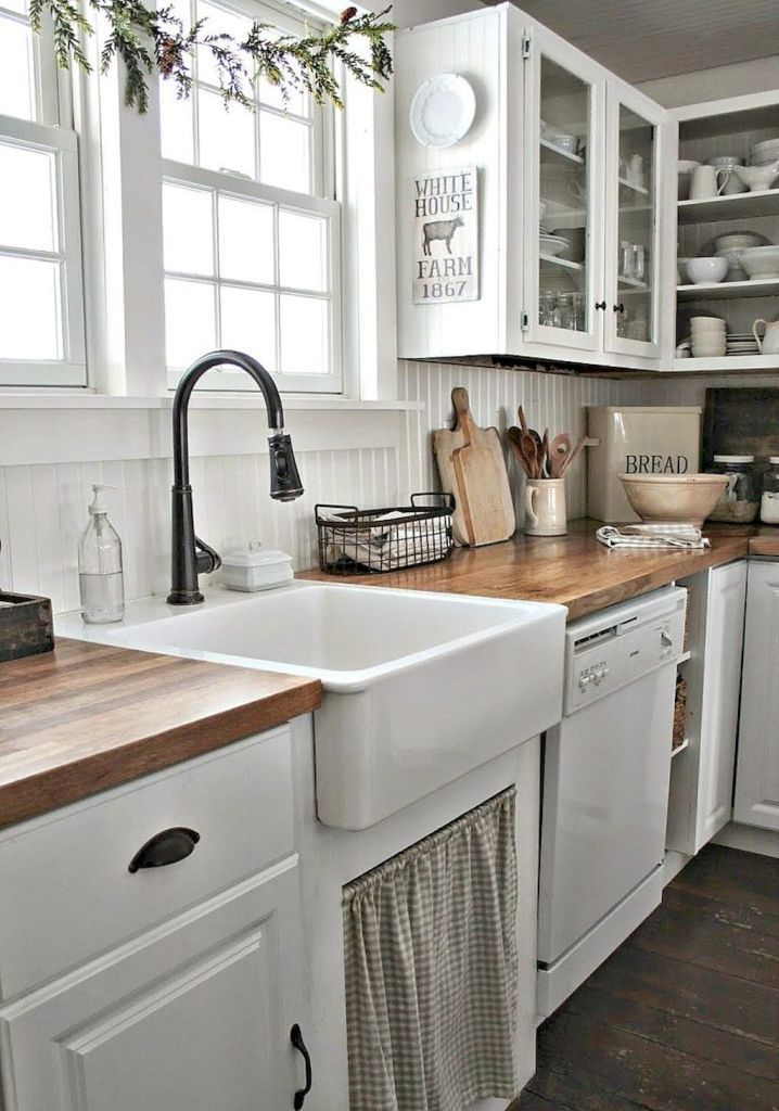 90 Pretty Farmhouse Kitchen Cabinet Design Ideas (63   Farmhouse Kitchen  Cabinets, Cabinet Design And Farmhouse Kitchens