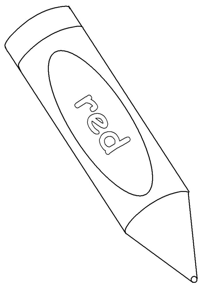Crayon Coloring Pages For Adults