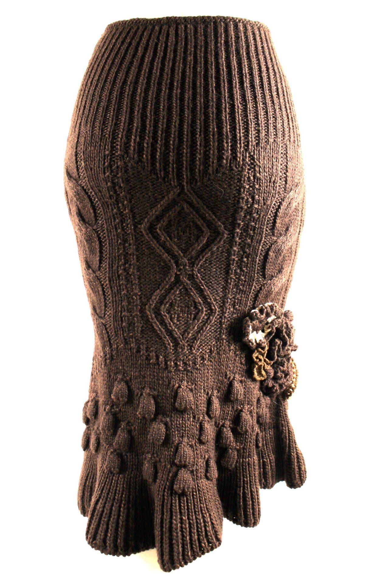 Alexander McQueen knit skirt