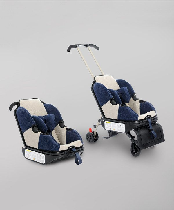 Sit 'n' Stroll Nautical Blue Sit 'n' Stroll (Convertible Stroller car seat  that has wheels) - so good for travel