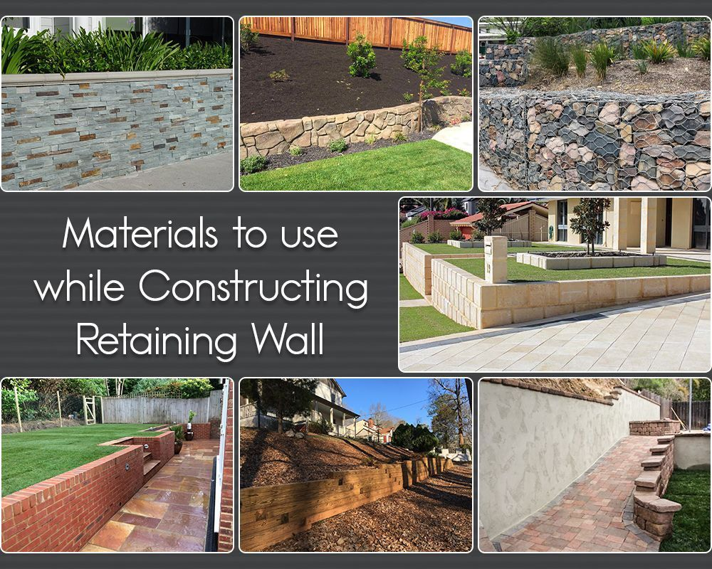 Various Types Of Materials For Constructing A Retaining Wall In 2020 Concrete Retaining Walls Retaining Wall Stone Retaining Wall